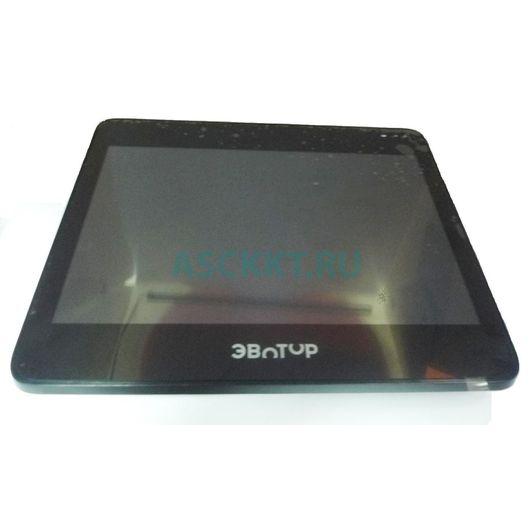 Сенсорный экран СТ-10 в сборе с рамкой, световодами и дисплеем с переходной платой ver 2.1